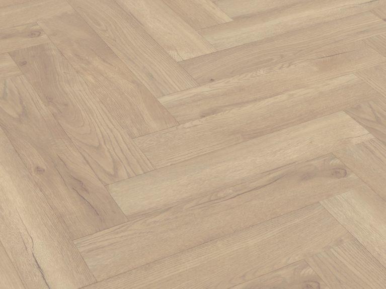 De Whitewash Visgraat is een moderne laminaat vloer met een visgraat motief. Deze exclusieve visgraatvloer creëert een luxe uitstraling.